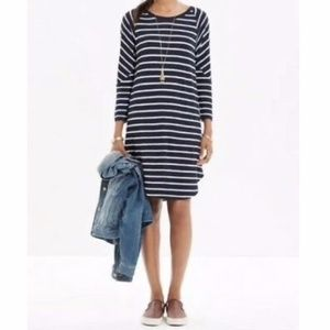 Madewell Cointoss Striped Shirt Dress
